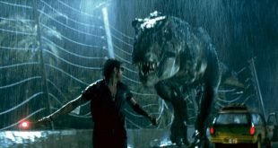 Una scena del film Jurassic Park
