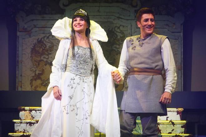 Lorella Cuccarini e Pietro Pignatelli in La Regina di Ghiaccio. Foto Ufficio Stampa.