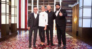 Bruno Barbieri, Roberta Capua, Joe Bastianich, Antonino Cannavacciuolo per Celebrity MasterChef. Foto Ufficio Stampa.