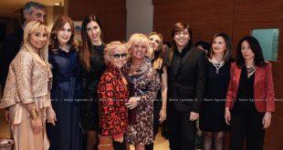 Cinzia Th Torrini con ospiti della serata. Foto Mario Agozzino.