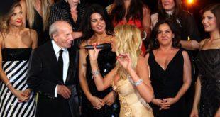Enzo Mirigliani con Valeria Marini a Miss Italia il 25-04-2007