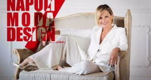 Simona Ventura per Napoli Moda Design. Foto Ufficio Stampa