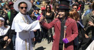 Il Papa e Willy Wonka al Comicon di Napoli
