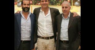 Maestro Marco Chiucchiarell, Luigi De Magistris e Paolo Chiucchiarell. Foto Giancarlo Cantone.