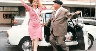 Anna Mazzamauro e Paolo Villaggio in una scena di Fantozzi.