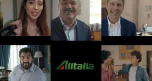 Spot VIP Alitalia 2017. Foto Alitalia Media.