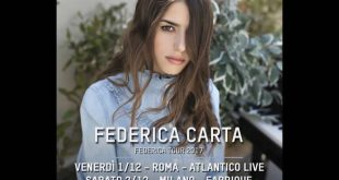 Federica Carta - Tour 2017