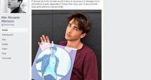 Riki, il vinile di Perdo le parole promozionato sulla sua Fanpage di Facebook.