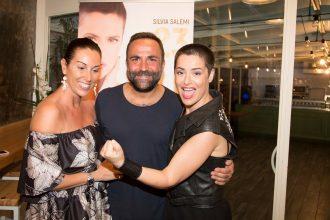 Silvia Salemi, Mario Maellaro e Francesca Aiello alla presentazione di 23