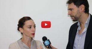Francesco Russo intervista Anbeta Toromani per Sport Village Campania. Foto di Arcangelo Munciguerra.
