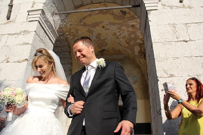 Nicole Husel al suo matrimonio. Foto di Max Pao.