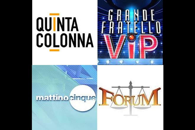 Programmi TV Mediaset Settembre 2017