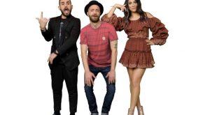 Stefano Corti, Alessandro Onnis e Giulia Salemi conduttori di Ridiculousness. Foto Ufficio Stampa.