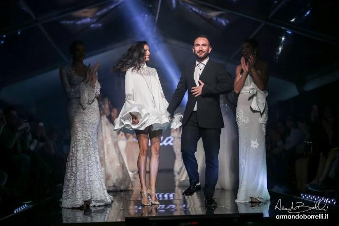 Ferdinando Borrelli con Mariana Roudriguez a Ti Sposo. Foto di Armando Borrelli.