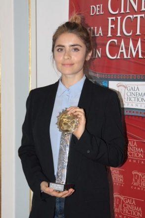 Greta Scarano premiata al Galà del Cinema e della Fiction 2017. Foto Ufficio Stampa.