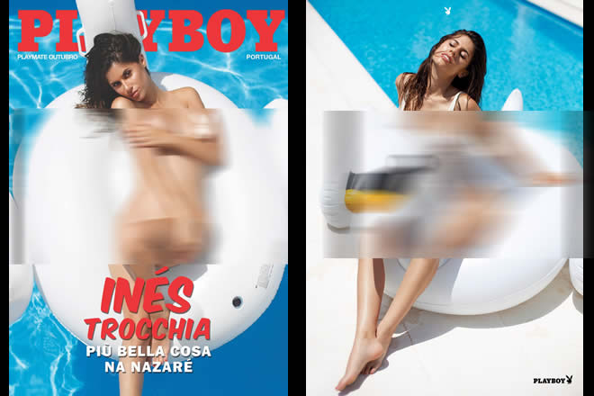 Ines Trocchia in copertina su PlayBoy Portogallo di ottobre 2017. Foto di Ana Dias.