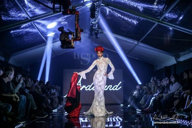 La modella Laura Tresa in abito Ferdinand a Ti Sposo. Foto di Armando Borrelli.
