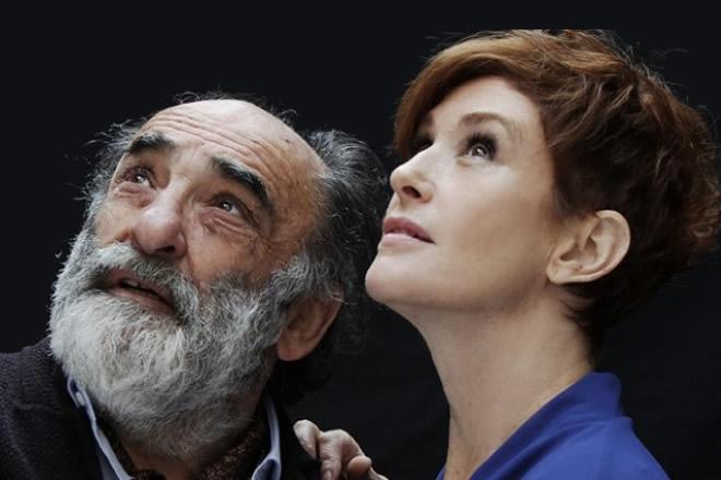 Alessandro Haber e Lucrezia Lante della Rovere insieme al teatro con Il Padre.