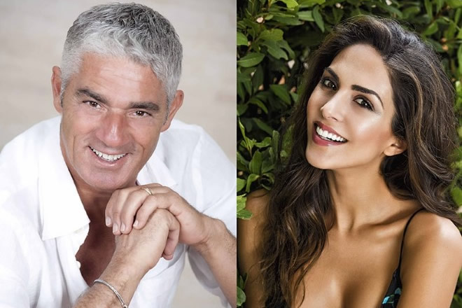 Biagio Izzo e Rocio Munoz Morales in Mi Manda Picone. Foto Ufficio Stampa.