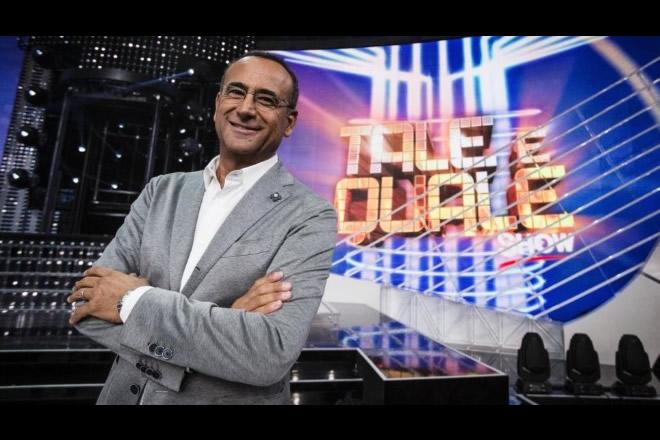 Carlo Conti, conduttore di Tale e Quale Show 2017. Foto Ufficio Stampa.