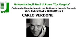 Carlo Verdone e il un Dottorato in Beni Culturali