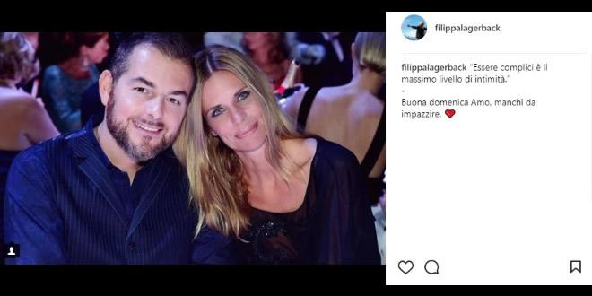 Daniele Bossari e Filippa Lagerback su Instagram