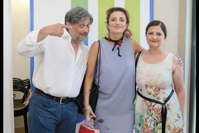 Maria Bolignano con Juna e Marco per Analfabetismo Emotivo. Foto di Paolo Vitale.