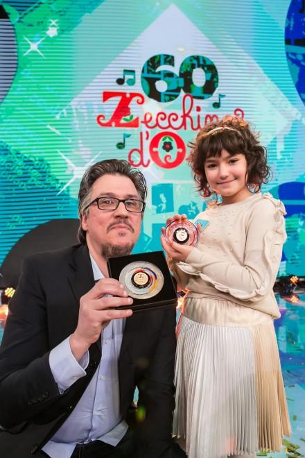 Sara Calamelli vince lo Zecchino d'Oro con Una parola magica. Foto di Michela Zucchini.