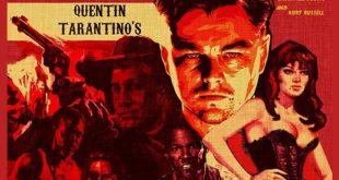 Leonardo Di Caprio nella locandina di Django Unchained di Quentin Tarantino .