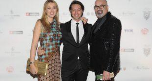 Paola Galloni con il suo agente Alex Pacifico e Giovanni Ciacci. Foto da Ufficio Stampa