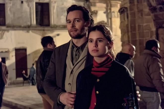 Carolina Signore in una foto di scena insieme a Giorgio Marchesi