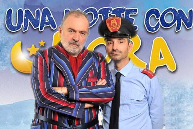 Gianni Parisi e Mariano Bruno in Una notte con Dora