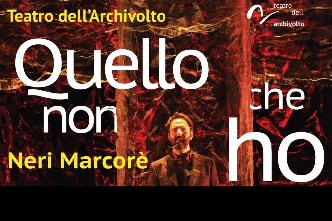Neri Marcorè - Locandina spettacolo Quello che non ho