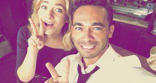 Francesco Castiglione e Federica De Benedittis. Foto da Instagram dell'attore.
