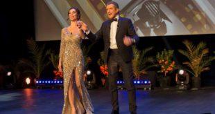 Lorella Boccia ed Ezio Greggio al Monte Carlo Film Festival. Foto da Ufficio Stampa.