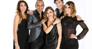 Matia Bazar, da sinistra Luna Dragonieri, Fabio Perversi, Paola Zadra, Piero Marras, Fiamma Cardani. Foto da Ufficio Stampa