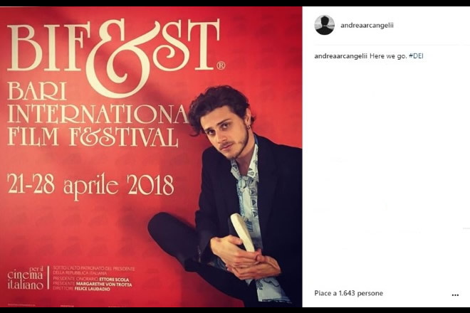 """Intervista ad Andrea Arcangeli in occasione della conferenza stampa di """"Dei"""" presentato in anteprima al Bifest, Bari International Film Festival."""