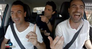 Andrea Perroni con Gigi e Ross per la prima puntata di Fan Caraoke
