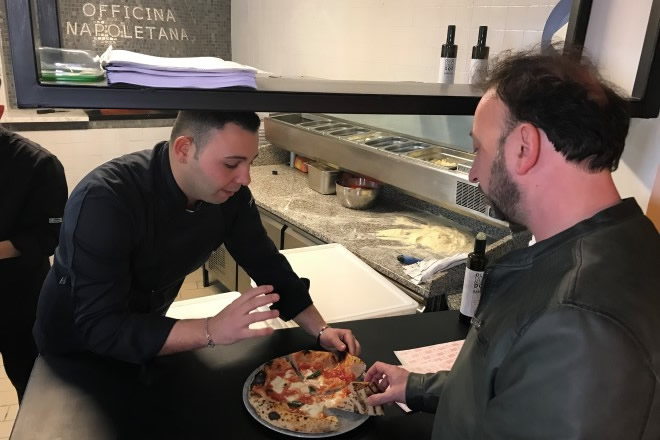 La spiegazione della Pizza a Mimmo Manfredi dei Ditelo Voi