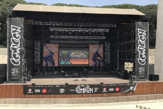 Lo stage nell'area Asian all'Arena Flegrea del Comicon 2018