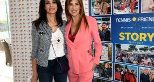 Maria Grazia Cucinotta, Giorgio Meneschincheri e Veronica Maya per Tennis e Friends 2018.