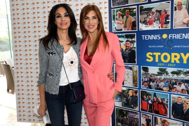 Maria Grazia Cucinotta e Veronica Maya per Tennis e Friends 2018.
