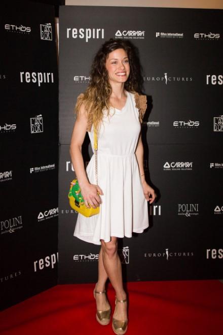 Alice Bellagamba alla premiere di Respiri. Foto di Alessandro Bachiorri.