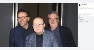 Christian De Sica, Massimo Boldi e Neri Parenti. Foto da Facebook