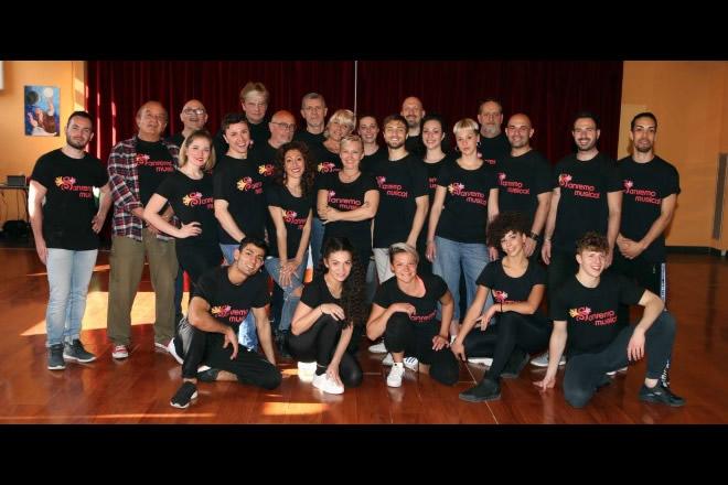 Il cast al completo di Sanremo Musical. Foto da Ufficio Stampa.