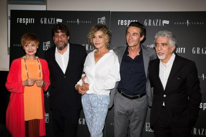 Il cast di Respiri. Foto di Alessandro Bachiorri.