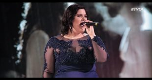 Maryam Tancredi live a The Voice of Italy. Foto dalla sua pagina Facebook staff GRS.