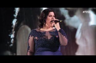 Maryam Tancredi live a The Voice of Italy. Foto dalla sua pagina Facebook staff GRS.