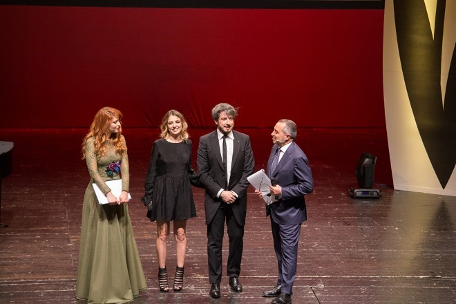 Paolo Ruffini, Myriam Catania Franco Di Mare e Metis Di Meo al Festival Tulipani di Seta Nera