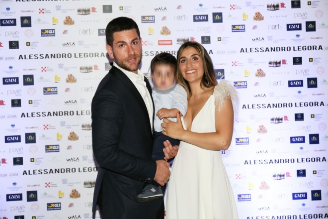 Alessandro Legora e la sua famiglia alla presentazione